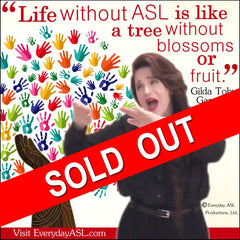 NEW! ASL Tree Inspirational Poster - Signed by Artist - FREE Ship!