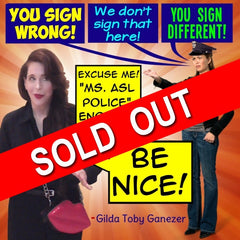 NEW! ASL Police Poster - Signed by Artist - FREE Ship!