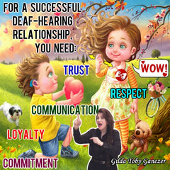 NEW! Successful Deaf and Hearing Relationship Poster - Signed by Artist - FREE Ship!