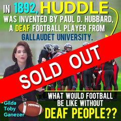 NEW! Deaf Culture in Football Poster - Signed by Artist - FREE Ship!