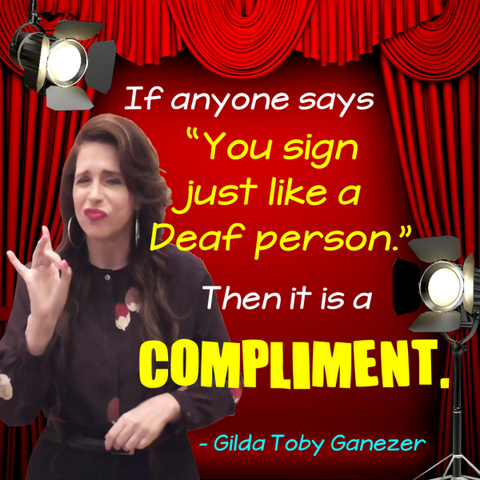 NEW! You Sign Like a Deaf Person Poster - Signed by Artist - FREE Ship!
