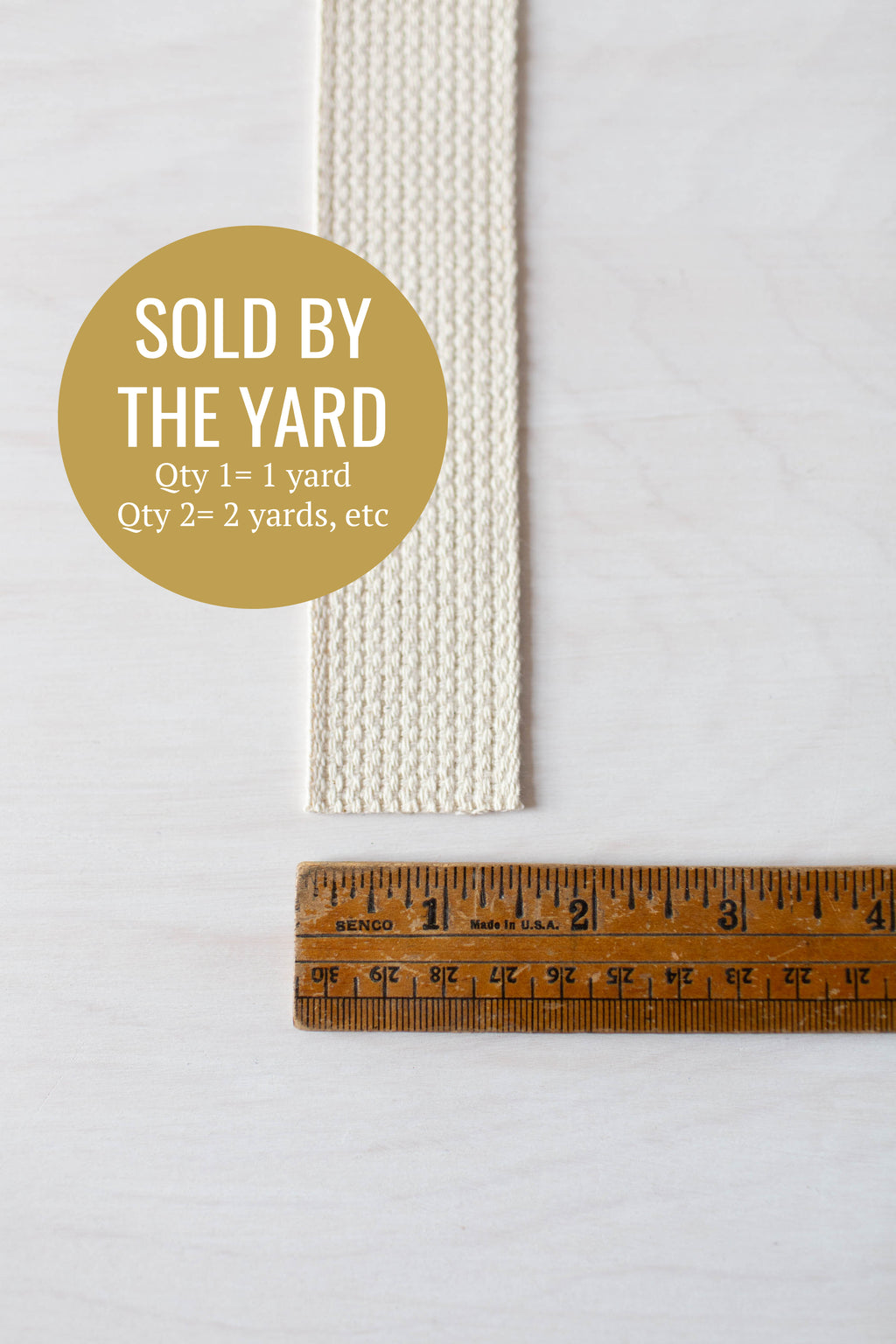 "Cotton Webbing (1.5""-wide) Sold by the Yard"