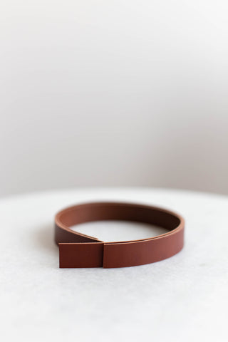 Leather Piece for Minimalist Wallet Snap Tab