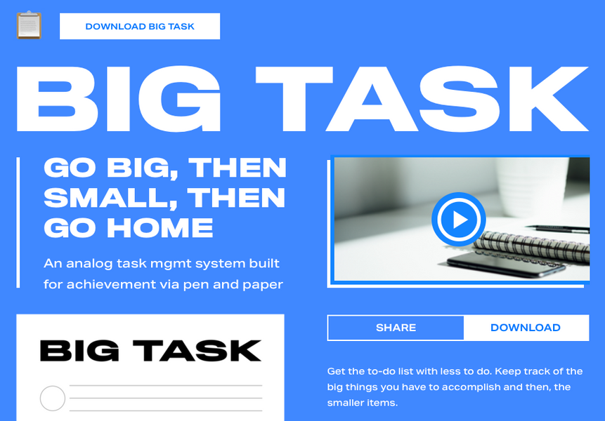 BMM Presents Big Task