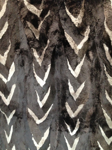 Two tone sheared beaver fur plate #3
