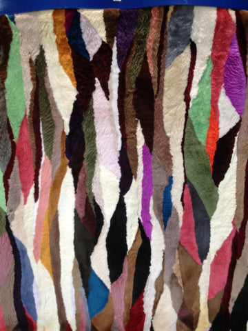 Multicolor sheared beaver fur