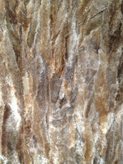 Natural pale sheared beaver plate #120