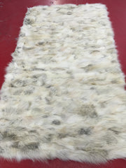 Coyote fur plate #104 (Flanks plate, cream with grey and beige shades)