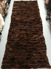 Mink fur plate, throw,carpet #165