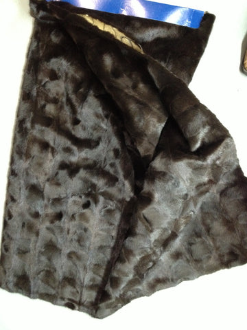 Mink fur plate #92 (Natural ranch oval mink)