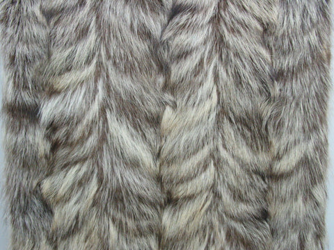 Natural Raccoon paw fur plate #8