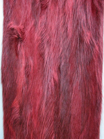 Red raccoon flanks fur plate #15