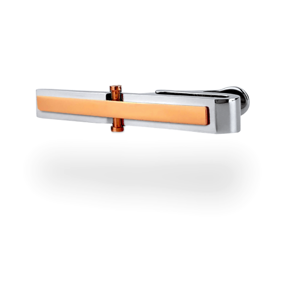 Rose Gold Tie Clip Tie Bar collection by COLLATERALS