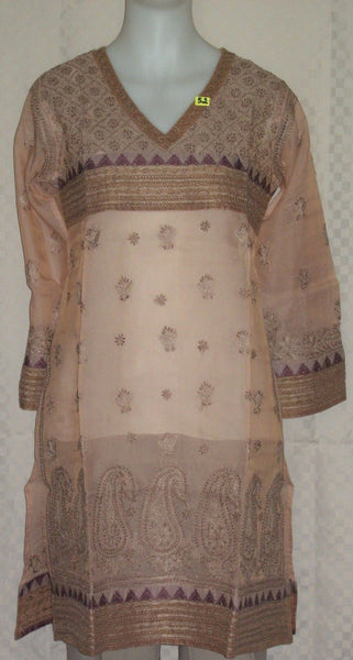 Blouse 0052 Pink Cotton Kurti Tunic Shirt Kameez Medium Size