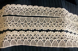 Trims 1037 White Lace Trim Embellishment Shieno Sarees