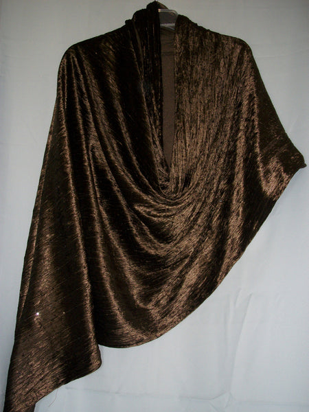 Shawl 1062 Chocolate Velvet Winter Warm Shawl Shieno Sarees