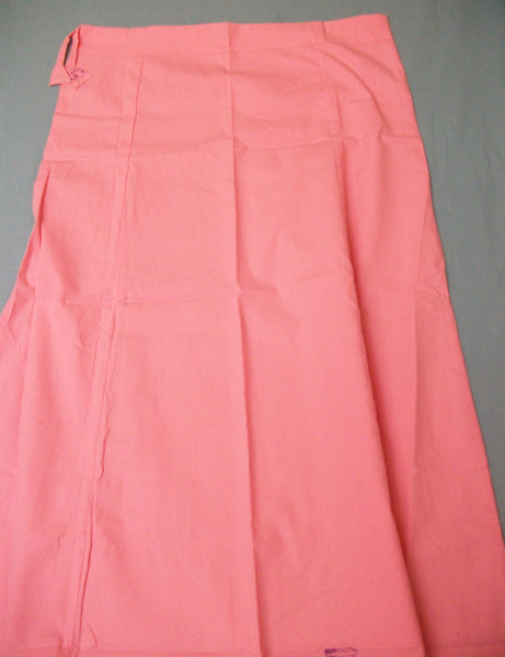 Petticoat 1093 Pink Cotton Meher Underskirt Shieno Sarees