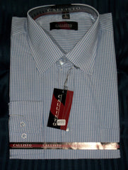 Men's 1190 Dress Shirt Beige Check Men's Dress Shirt Shieno