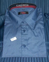 Men's Dress Shirt Blue check