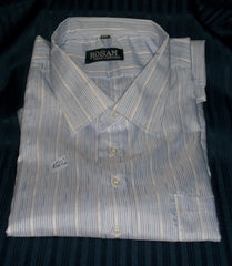 Men's Dress Shirt Blue/Purple pinstripe