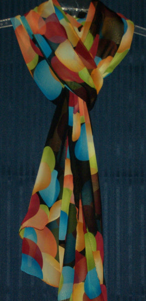Scarf Multi-color Chiffon