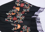 Shawl 1375 Black Synthetic Aari Shawl Shieno Sarees
