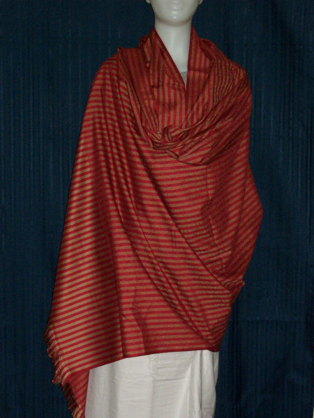 Shawl 1435 Red Golden Wrap Winter Shawl Shieno Sarees
