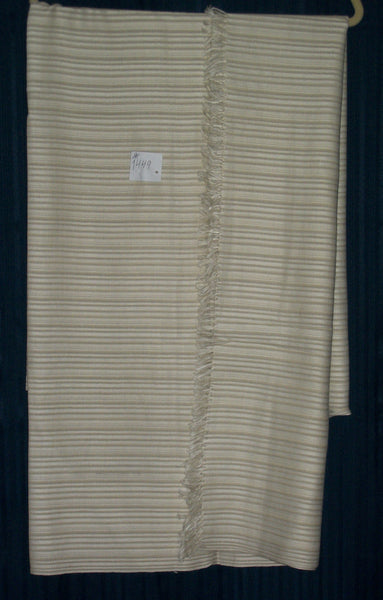 Shawl 1449 Ivory Wool Blend Wrap Shawl Shieno Sarees