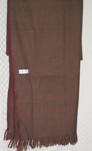 Shawl 1454 Brown Winter Wear Wrap Shawl Shieno Sarees