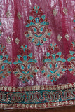 Lehenga 1515 Fuchsia Net Party Wear Chaniya Choli Shieno Sarees