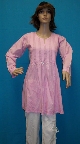 Blouse 1638 Lilac Cotton Tunic Kurti Kurta Medium Size Shieno Sarees