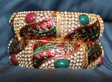 Bangles 1809 Bangles Filigree Meenakari Kadra Bangle Shieno Sarees