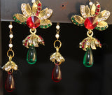 Jhumki Earrings 1812 Golden Jhumka Earrings Shieno Sarees