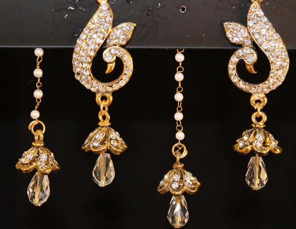 Jhumki Earrings 1826 Golden Jhumki Earrings Shieno Sarees