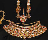 Necklace Set Indian Ethnic Jewelry Polki Shieno Sarees Pleasanton