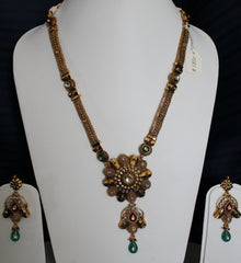 Necklace 1830 Golden Polki Jewelry Pendant Set Shieno Sarees