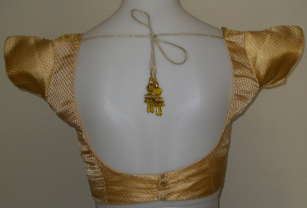 Saree Blouse Golden Brocade