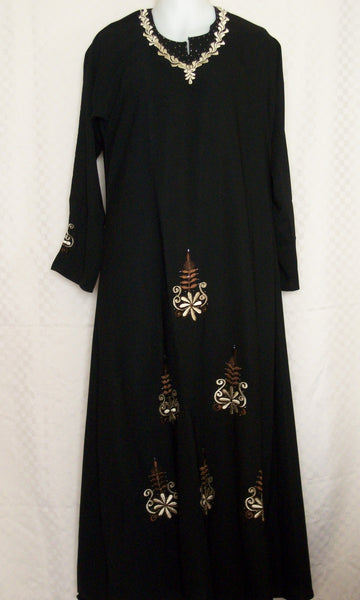 Abaya 1944 Dubai Black Sheela Shieno Sarees