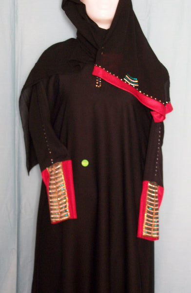 Abaya 1954 Dubai Black Sheela Shieno Sarees