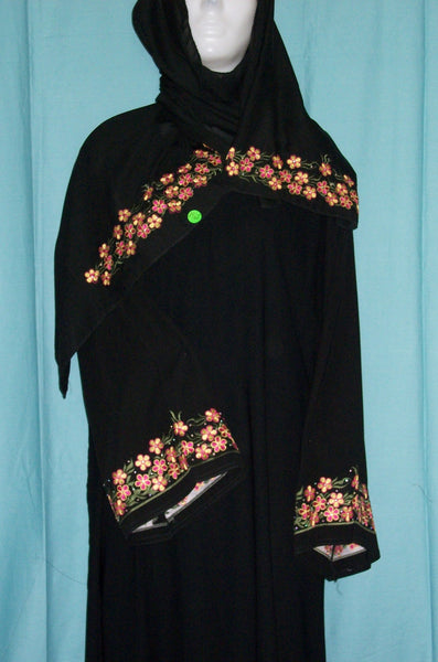 Abaya 1961 Dubai Black Sheela Shieno Sarees