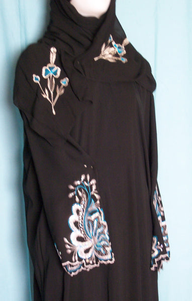 Abaya 1965 Dubai Black Sheela Shieno Sarees