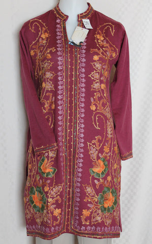 Blouse 2130 Kurti Tunic Top Fuchsia Winter Wear