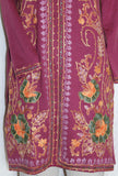 Blouse 2130  Fuchsia Winter Wear Kurti Tunic Top