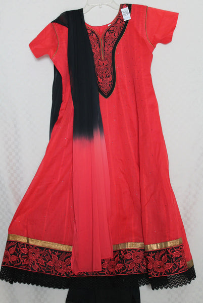 Suit 2216 Anarkali Salwar Kameez Dupatta Red