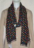 Scarf 2426 Black Multi Color Polka Dupatta Chunni Shawl Wrap