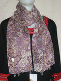 Scarf 2436 Purple Brown Dupatta Chunni Shawl Wrap Shieno Dublin