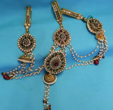 Saree Waist Belt 2526 Jhumki Pendant Multi Stranded Indian Sari Kamar Band