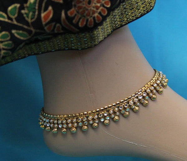 Anklet 2529 Indian Payal Anklet Shieno Sarees