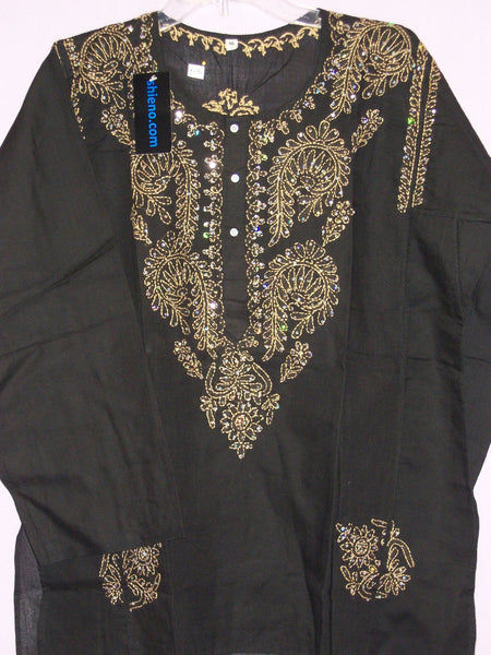 Kurti Tunic Shirt Blouse Black