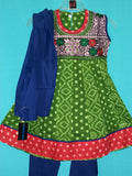 Girl's Anarkali Set Green